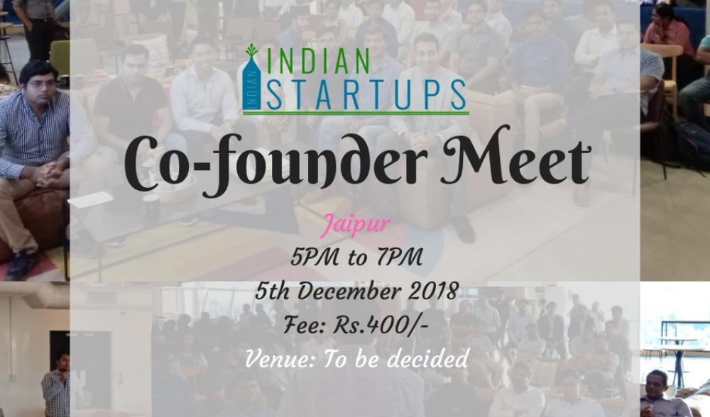Co-Founder Meet - December 2018 - Jaipur Event Image